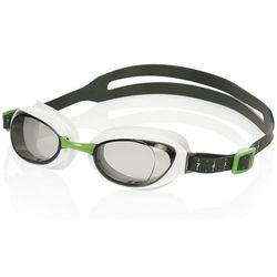 Speedo AQUAPURE MIRROR Okulary pływackie white/smoke Przy złożeniu zamówienia do godziny 16 ( od Pon. do Pt., wszystkie metody płatności z wyjątkiem przelewu bankowego), wysyłka odbędzie się tego samego dnia.