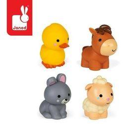 Janod - Zestaw figurek do kąpieli 4 zwierzątka z farmy 10 m+