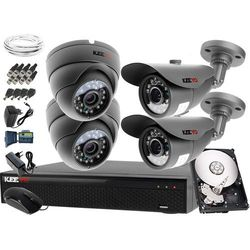 Kompletny system monitoringu na 4 kamery jakość HD 2x LV-AL20MT i 2x LV-AL25MD Rejestrator LV-XVR44SE Dysk 1TB Akcesoria