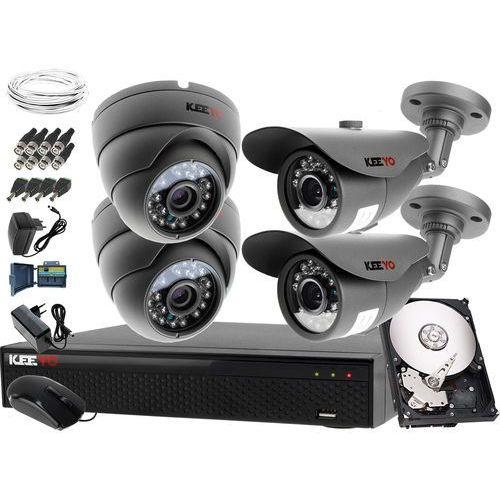 Zestawy monitoringowe, Kompletny system monitoringu na 4 kamery jakość HD 2x LV-AL20MT i 2x LV-AL25MD Rejestrator LV-XVR44SE Dysk 1TB Akcesoria