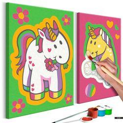 SELSEY Zestaw do malowania Jednorożce (zieleń i róż)
