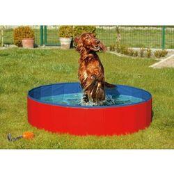 Karlie Składany basen dla psów niebiesko-czerwony 160x30 cm