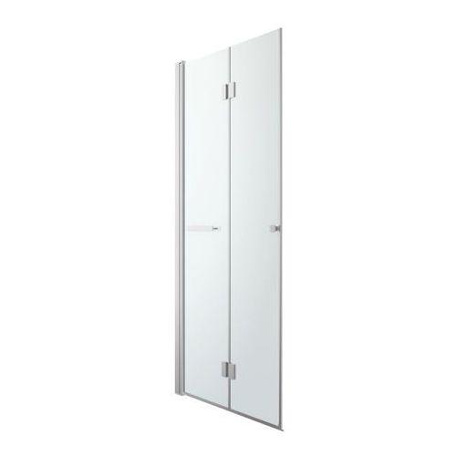Drzwi prysznicowe, Drzwi prysznicowe składane GoodHome Beloya 90 cm chrom/transparentne
