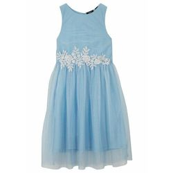Sukienka dziewczęca na uroczyste okazje bonprix jasnoniebiesko-biały
