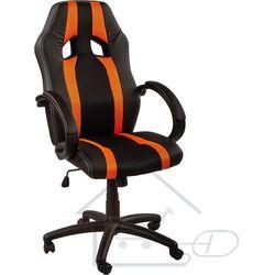 Fotel obrotowy dla gracza, RACEMASTER, w pomarańczowy pasy