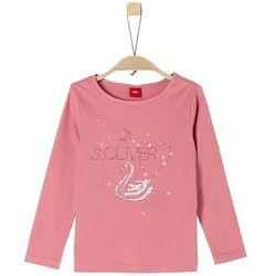s.Oliver koszulka dziewczęca, łabędzie i gwiazdki 104/110 różowy - BEZPŁATNY ODBIÓR: WROCŁAW!