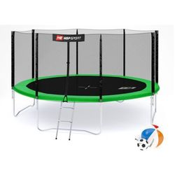 Trampolina Hop-Sport 14ft (427cm) z siatką zewnętrzną