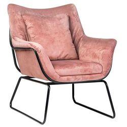 Fotel Alborg różowy