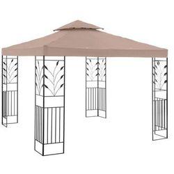 Uniprodo Pawilon ogrodowy - ornament - beżowy UNI_PERGOLA_3X3T_U - 3 LATA GWARANCJI