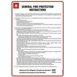 General fire - protection instructions. Instrukcja ogólna przeciwpożarowa (wersja angielska)