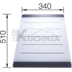 Deska BLANCO ze szkła mlecznego 510x340x21mm (224975)