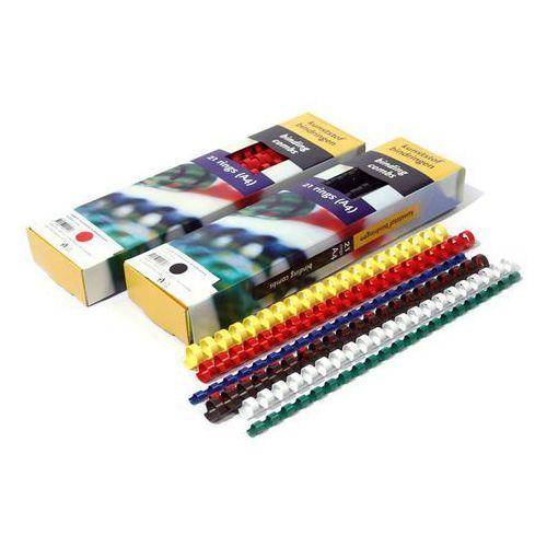 Grzbiety do bindownic, Grzbiety do bindowania plastikowe, żółte, 28,5 mm, 50 sztuk, oprawa do 270 kartek - Super Ceny - Rabaty - Autoryzowana dystrybucja - Szybka dostawa - Hurt