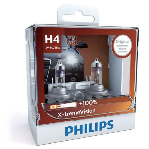 Żarówki halogenowe samochodowe, ZESTAW 2x Żarówka samochodowa Philips X-TREMEVISION 12342XV+S2 H4 P43t-38/60W/55W/12V