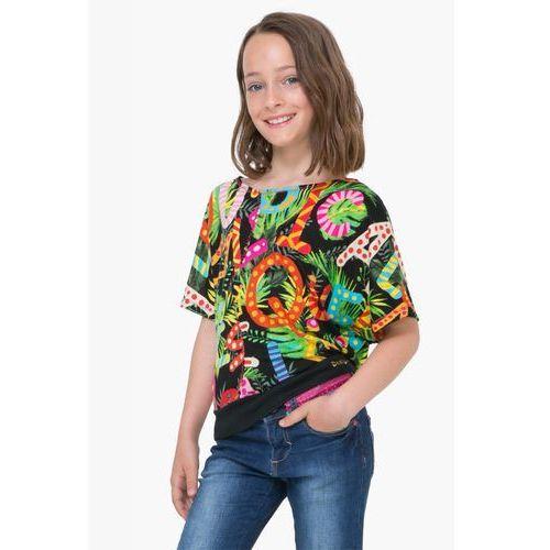 Koszulki z krótkim rękawkiem dziecięce, Desigual T-shirt dziewczęcy Swan 128 wielokolorowy