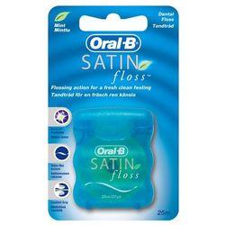 ORAL-B Satin Floss - Nić dentystyczna miętowa, odporna na strzępienie, rozciąganie i zrywanie 25m