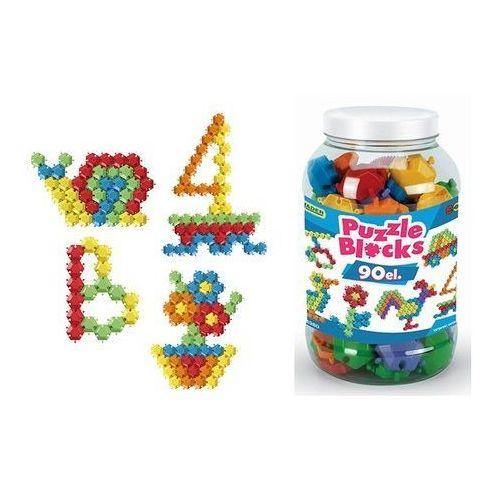 Puzzle, Klocki puzzle - słoik 90 elementów