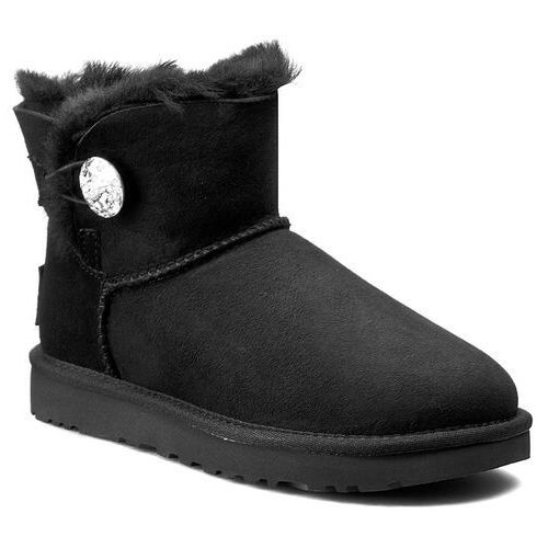 Kozaki damskie, Buty UGG - W Mini Bailey Button Bling 1016554 W/Blk