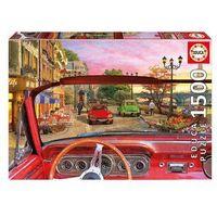 Puzzle, Puzzle Paryż zza szyby samochodu 1500