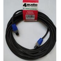 Kable audio, 4Audio LS2400 5m przewód głośnikowy 2x4mm ze speakonem NL4FX