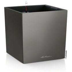 Donica Lechuza Cube 40 - antracytowa - 40x 40 x 40 cm, matowy - antracytowy
