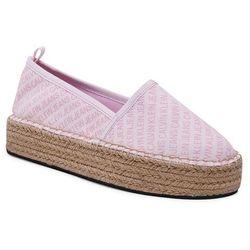 Espadryle CALVIN KLEIN JEANS - Espadrille Wedge Aop Co YW0YW00115 Pearly Pink TN9