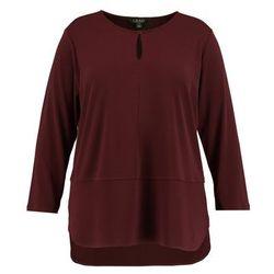 Lauren Ralph Lauren Woman MATTE KEYHOL Bluzka z długim rękawem red sangria