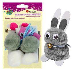 Zestaw kreatywny królik 2szt samodzielnego wykon - królik