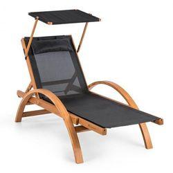 Panamera Leżak ogrodowy z dachem siateczka ComfortMesh Nośność: 150 kg kolor czarny