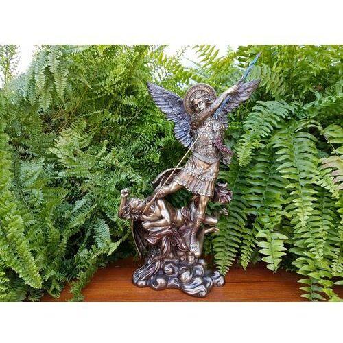 Rzeźby i figurki, WYJĄTKOWA RZEŹBA ŚW. MICHAŁ STOJĄCY NA DEMONIE VERONESE (WU73529A4)