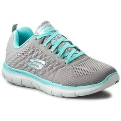 Buty SKECHERS - Break Free 12757/GYLB Gray/Light Blue