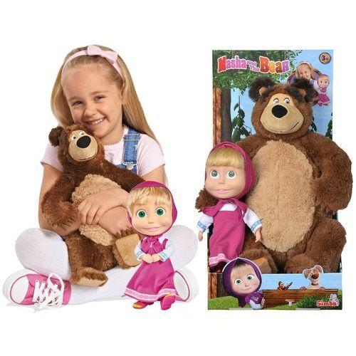 Pluszaki bajkowe, Simba masza i niedźwiedź zestaw lalka + miś
