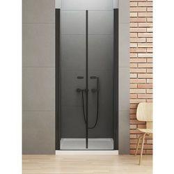 New Trendy New Soleo Black drzwi wnękowe 170 cm wys. 195 cm, szkło czyste 6 mm D-0250A