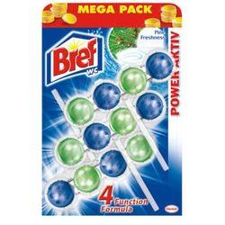 BREF 3x50g Power active Pine Freshness zawieszki do muszli WC Mega Pack