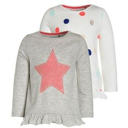 Outfit Kids TODDLER GIRL SPOT STRIPE 2 PACK Bluzka z długim rękawem light grey