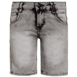 Retour Jeans JUSTO Szorty jeansowe light grey denim