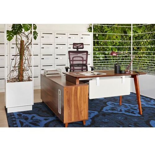 Biurka i stoliki, Nowoczesne biurko z pomocnikiem EVOLUTIO A609 140 cm