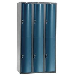 Szafa szatniowa Curve 3 sekcje 6 drzwi 1740x900x550 mm niebieski metali