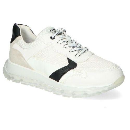 Damskie obuwie sportowe, Sneakersy Marco Tozzi 2-23727-26 Biało/Czarne