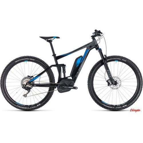 Rowery elektryczne, Rower elektryczny Cube Stereo Hybrid 120 Exc 500 29 Black/Blue 2018