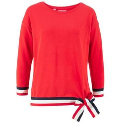 Bluza z rękawami 3/4 bonprix truskawkowy