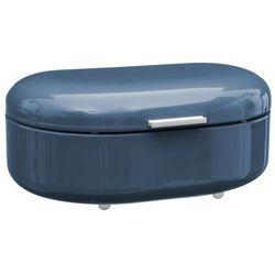 Metalowy chlebak RETRO, pojemnik na pieczywo - kolor niebieski, 40 x 25 x 17 cm