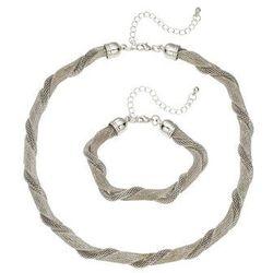 Łańcuszek + bransoletka (2 części) bonprix srebrny kolor