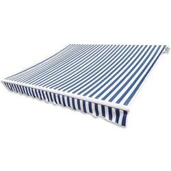 Markiza przeciwsłoneczna biało-niebieskie płótno 3 x 2,5 m