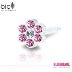 Kolczyk do przekłuwania uszu Blomdahl - Daisy Rose / Crystal 5 mm