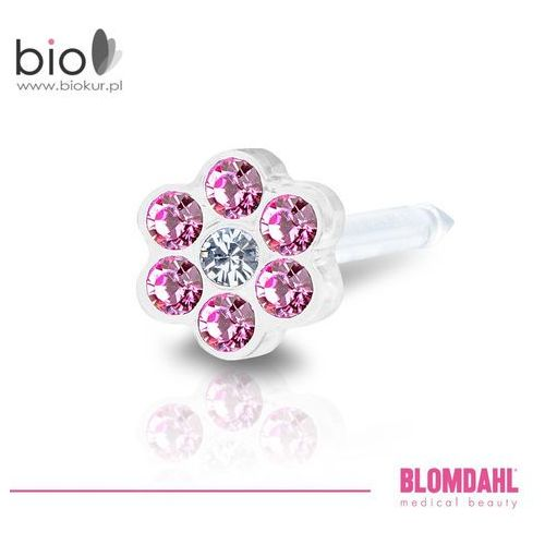 Akcesoria do kolczykowania, Kolczyk do przekłuwania uszu Blomdahl - Daisy Rose / Crystal 5 mm