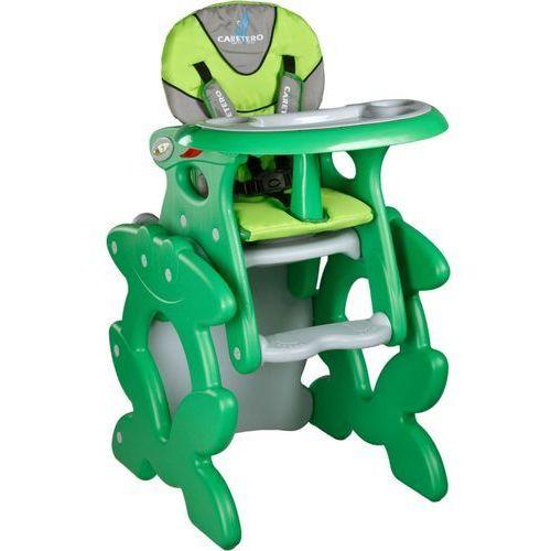 Krzesełka do karmienia, Krzesło do karmienia CARETERO ze stoliczkiem Primus zielony + DARMOWY TRANSPORT!