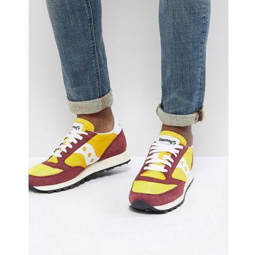 Męskie obuwie sportowe, Saucony Jazz Original Trainers In Yellow S70368-16 - Yellow