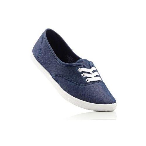Damskie obuwie sportowe, Tenisówki bonprix niebieski dżins