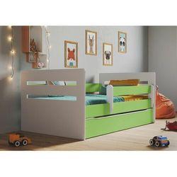 Łóżko dla dziecka, barierka ochronna, tomi, zielony, biały, mat