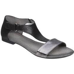 Sandały damskie VERONII 5007 Czarne+Nikiel - Czarny ||Grafitowy ||Nikiel